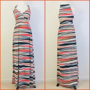 Glamour Multicolor Print Sleeveless Maxi Dress 6